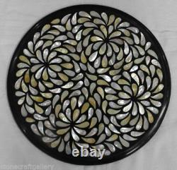 12 Black marble table top inlay mother of pearl marquetry Handmade Home decor