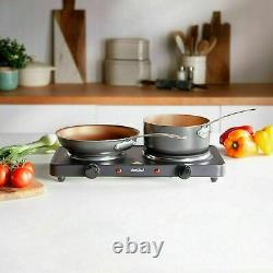 2500 Watt Electric Portable Stove Double Hot Plate Cooker Hob Camping Table Top
