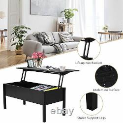 39 Modern Lift Top Coffee Table Extendable Floating Desk Hidden Storage