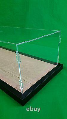 47L x 26W x 15H Table Top Acrylic Display case with black frame Stand Cabinet