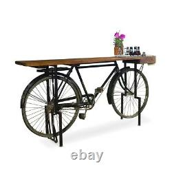 72 Dining Table Old Vintage Bicycle Base Reclaimed Wood Top Unique