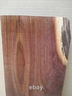 8 Wide Dark Feathered Black Walnut Table Top Bench Resaw End Table Craft Plank