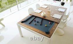 Aramith Alum Powder Coated w Black Lacquer Top Fusion Pool Table w Benches