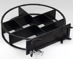 Black Ebony Wood Display Stand Shelf Table Top Small Ornament Antique Craft Base