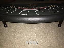 Black Jack Pays 3 To 2 Casino Table Top with Legs 32 Six Player