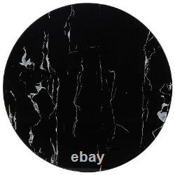 Black Marble Table Top Dining Garden Coffee Tables Accessories Different Sizes