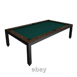Black Powder Coated Fusion Table with Wood Top