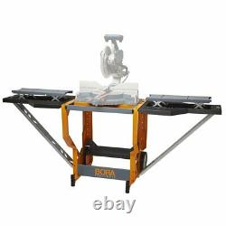 Bora Portamate Miter Saw Stand Work Station Mobile Rolling Table Top Workbe