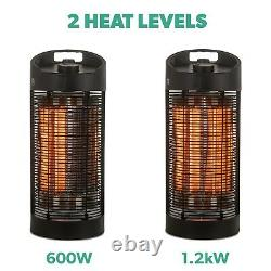 ElectriQ Table Top Infrared Electric Indoor and Outdoor Oscillating Heater Bla