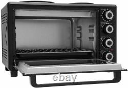 Electric Oven and Grill, Royale TT30 32L 52cm Electric Table Top Cooker Black