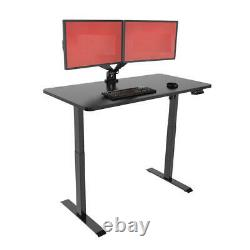 Electric Sit to Stand Adjustable Desk Riser Frame (Table Top Not Included)-Black