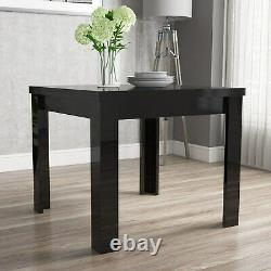 Flip Top Dining Table in Black High Gloss with 2 Grey Chairs BUN/VIV004A/70576