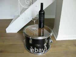 Funky Original Glass Topped Drum Side Table by Cymbolic Tables Vintage, Retro