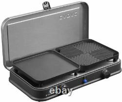 Gas Barbecue Griller Table Top Portable Compact Alloy Steel BBQ with Carry Bag