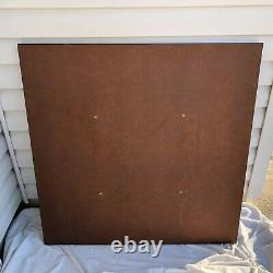 Herman Miller White TABLE TOP ONLY 36 x 36 with Black Edges MCM Eames Vintage