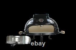 Higoshi BLACK Ceramic Mini Cooking Table Top Pizza Oven Next Day Delivery