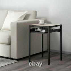 IKEA NYBODA Side Table with Reversible Table Top Black/ Beige 203.426.44 New