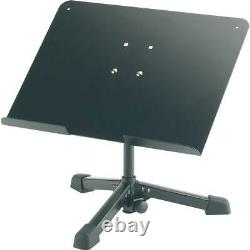 KM 12140 Universal Table-Top Music Stand, 9.45 Height, 8.81 lb Capacity, Black