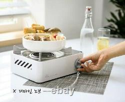 KOVEA X-ON Mini Stainless Table Top Stove Gas Camping Burner KGR-2007WH White