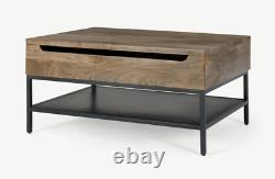 Lomond Lift Top Coffee Table With Storage In Mango Wood And Black by made. Com #1