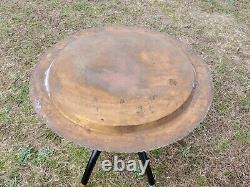 Mid-Century copper top spider legs side table black wooded folding legs Asian