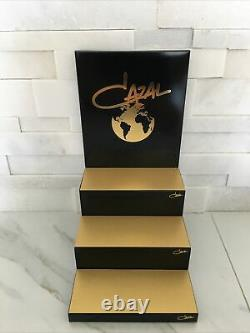 New Cazal Display Three Piece Display Black And Gold Table Counter Top Display