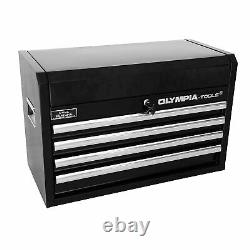 Olympia Tools 87-263 Table Top 4-Drawer Organizer Tool Storage Chest, Black