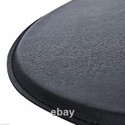 Round Covered Wooden Top Bar Table Home Pub Adjustable Height Black