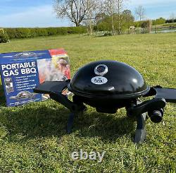 Royal Portable Table Top Gas BBQ With Cast Iron Grill Barbecue Plate