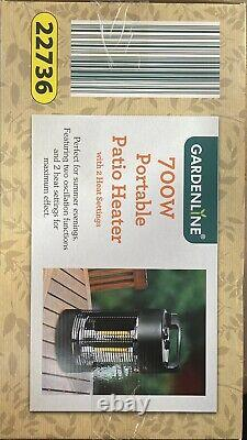 Status 700W Table Top Patio Heater Outdoor Summer Heating Fast & Free Delivery