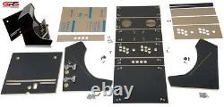 Table Top Arcade Cabinet Kit Black, Fast Assembly hardware, Plex, Marquee