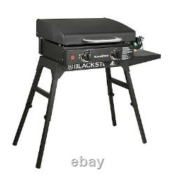 Table Top Gas Grill Skillet Stainless Steel Barbecue Outdoor Backyard Patio Camp