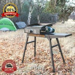 Table Top Griddle 17 Inches Adventure Ready Portable Camping Burner Steel Grill