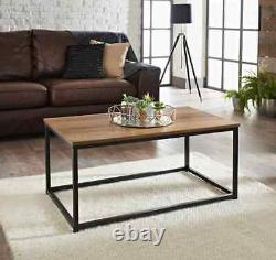 Tromso Coffee Table With Dark Wood Top And Black Legs Traditional Coffee Table
