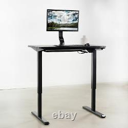 VIVO Black 43 x 24 inch Universal Table Top for Sit to Stand Desk Frames