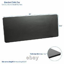 VIVO Black 60 x 24 inch Universal Table Top for Sit to Stand Desk Frames