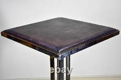 Vintage high bar table square leather top